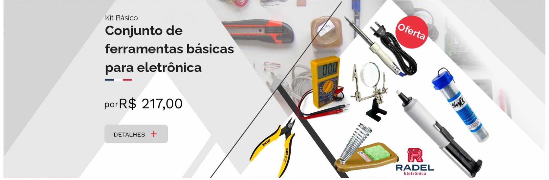 Conjunto de ferramentas básicas  para eletrônica
