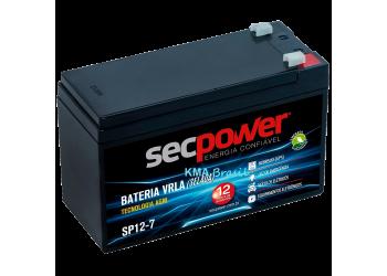 Bateria 12v 7amp.  - Secpower
