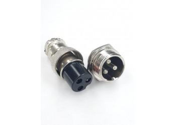 Conector Mike Macho/fêmea Metal 3 Vias Ls-3002 - 3009 3 Vias