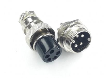 Conector Mike Macho/fêmea Metal 5 Vias Ls-3004-3011 - 5 Vias