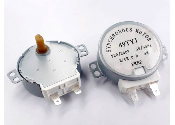 Motor Para Prato De Microondas 4w 5/6 Rpm 220v Eixo Plastico