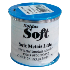 Solda Estanho 500g 1mm - Soft