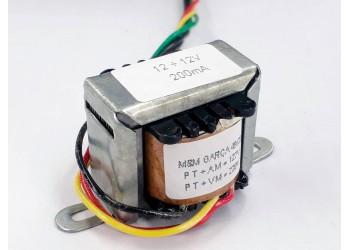 Transformador 12+12v 200 Mah ( Trafo ) Bivolt - Tr-200-012