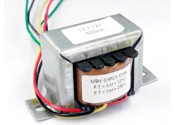 Transformador 12+12v 500 Mah ( Trafo ) Bivolt - Tr-500-014