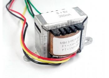 Transformador 6+6v 200 Mah ( Trafo ) Bivolt - Tr-200-009